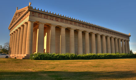 A Reproduction of the Greek Parthenon in Nashville